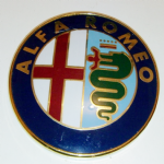 Alfa Romeo Bonnet car emblem badge 2000's